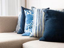 Cushions on a sofa Stock Photography
