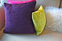 Cushions on sofa Stock Photography