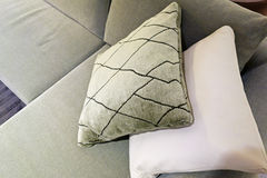 Cushions on Sofa Stock Photos