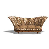 Cushy sofa with african design Royalty Free Stock Photography