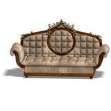 Cushy sofa of louis XV. Royalty Free Stock Photos