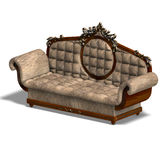 Cushy sofa of louis XV. Royalty Free Stock Photography