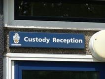 Custódia de polícia Imagens de Stock Royalty Free