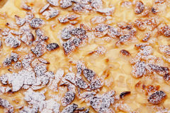 Custard Almonds And Icing Sugar Royalty Free Stock Photo