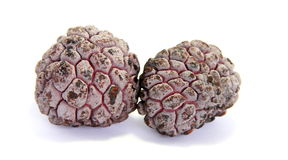 Custard-apple. Annona squamosa on the white background Stock Photos