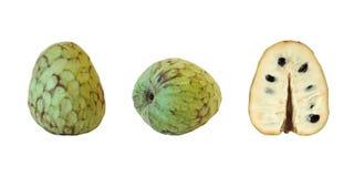 Custard-apple. Fruits isolated on white background stock images
