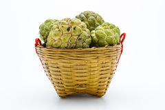 Custard Apple in the Basket Stock Images