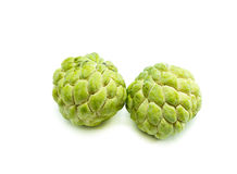 Custard apple fruit,Annona squamosa on white background Stock Photo