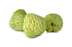 Custard apple fruit on white Stock Photos