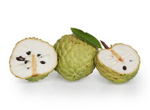 Custard Apple. Fruta do conde  isolated on white background Stock Photo