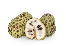 Custard apple. Fruta do conde on white isolated Royalty Free Stock Images
