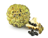 Custard apple isolated. On white background Royalty Free Stock Photo