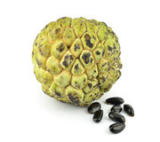Custard apple isolated. On white background Stock Images