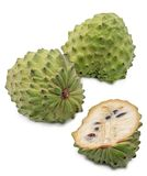 Custard apple isolated on white background,annona Stock Photography