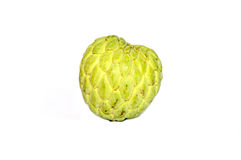 Custard apple. This is a just-picked Sugar Apple on a white background Royalty Free Stock Photography