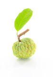 Custard apple. That is placed on a white background Royalty Free Stock Photos
