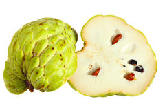 Custard apple sliced in half Royalty Free Stock Photos