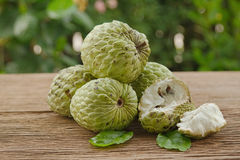 Custard apple or sugar apple fruit Royalty Free Stock Images