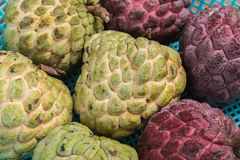 Custard apple two species closely. Royalty Free Stock Image