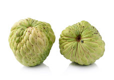Custard apple on white background Stock Images