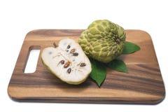 Custard apple on white background. Sugar Apple ,Custard apple, Annona, Sweetsop on white background Royalty Free Stock Photos