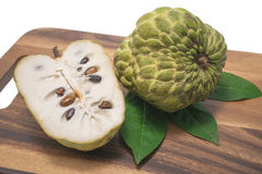 Custard apple on white background. Sugar Apple ,Custard apple, Annona, Sweetsop on white background Royalty Free Stock Image