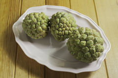 Custard apples in a dish Stock Images