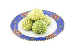 Custard apples group Royalty Free Stock Images