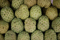 Custard apples stack Royalty Free Stock Photo