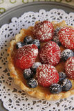 Custard Berry Tart Stock Images