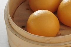 Custard bun dim sum Royalty Free Stock Photos