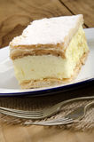 Custard cake on a plate Royalty Free Stock Photography