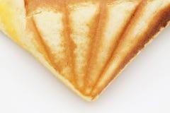 Custard cake sandwich. On dish Royalty Free Stock Image
