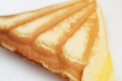 Custard cake sandwich. On dish Stock Photos