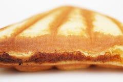 Custard cake sandwich. On white background Stock Photography