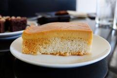 Custard cake stock photos