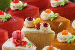 Custard cake white. Stock Images