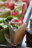 Custard cake white. Stock Photography