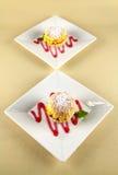 Custard Cakes Royalty Free Stock Photos