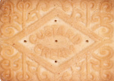 Custard cream biscuit abstract Stock Image