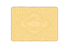 Custard Cream Biscuit Royalty Free Stock Photography