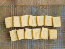 Custard Cream Biscuits on a Cooling Rack Royalty Free Stock Images