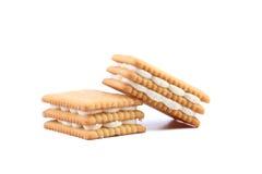 Custard cream biscuits. Stock Image