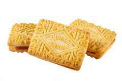 Custard Cream Biscuits Royalty Free Stock Photography