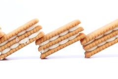 Custard cream biscuits. Stock Photo
