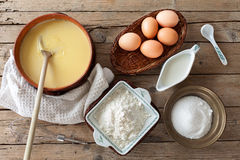 Custard Cream Ingredients Stock Photo