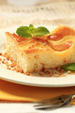 Custard cream sponge cake Royalty Free Stock Photos