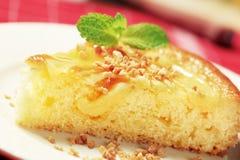 Custard cream sponge cake Royalty Free Stock Photo
