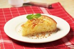 Custard cream sponge cake Royalty Free Stock Images