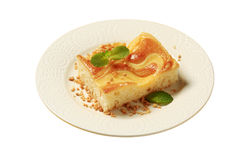 Custard cream sponge cake Stock Photo